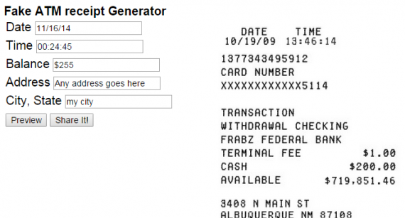 12 Best Generators to get 'Fake' or 'Duplicate' Receipts
