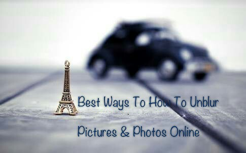 Unblur a photo online