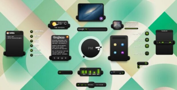 Rainmeter themes and skins